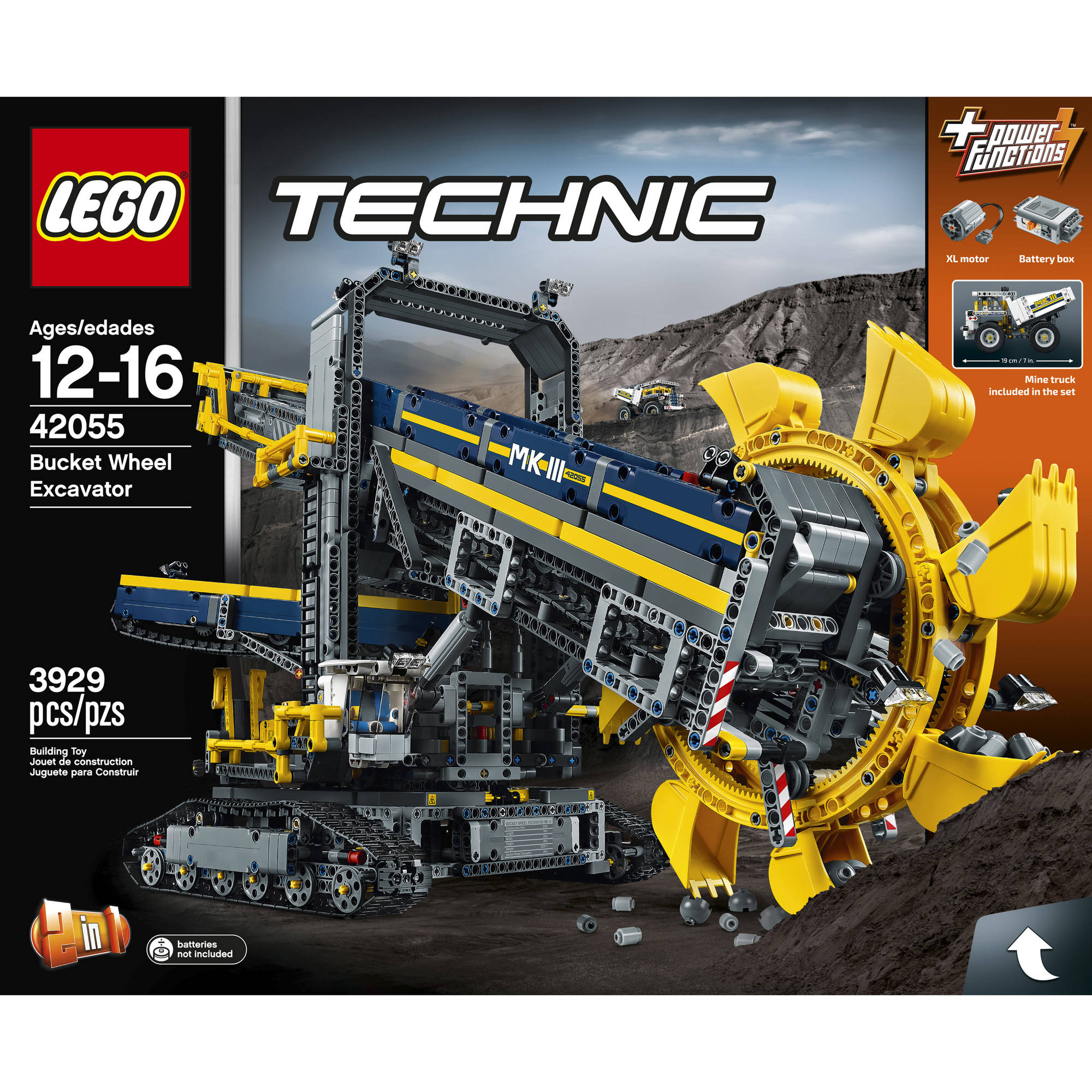 lego technic 42055 building kit bucket wheel excavator 2. Black Bedroom Furniture Sets. Home Design Ideas