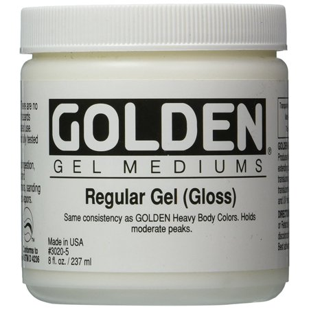Golden Regular Gloss Gel Medium-8 ounce (Regular Gel Gloss)