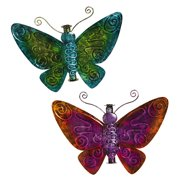 Evergreen Enterprises, Inc 11'' Metal Butterfly Finial (Set of 2)