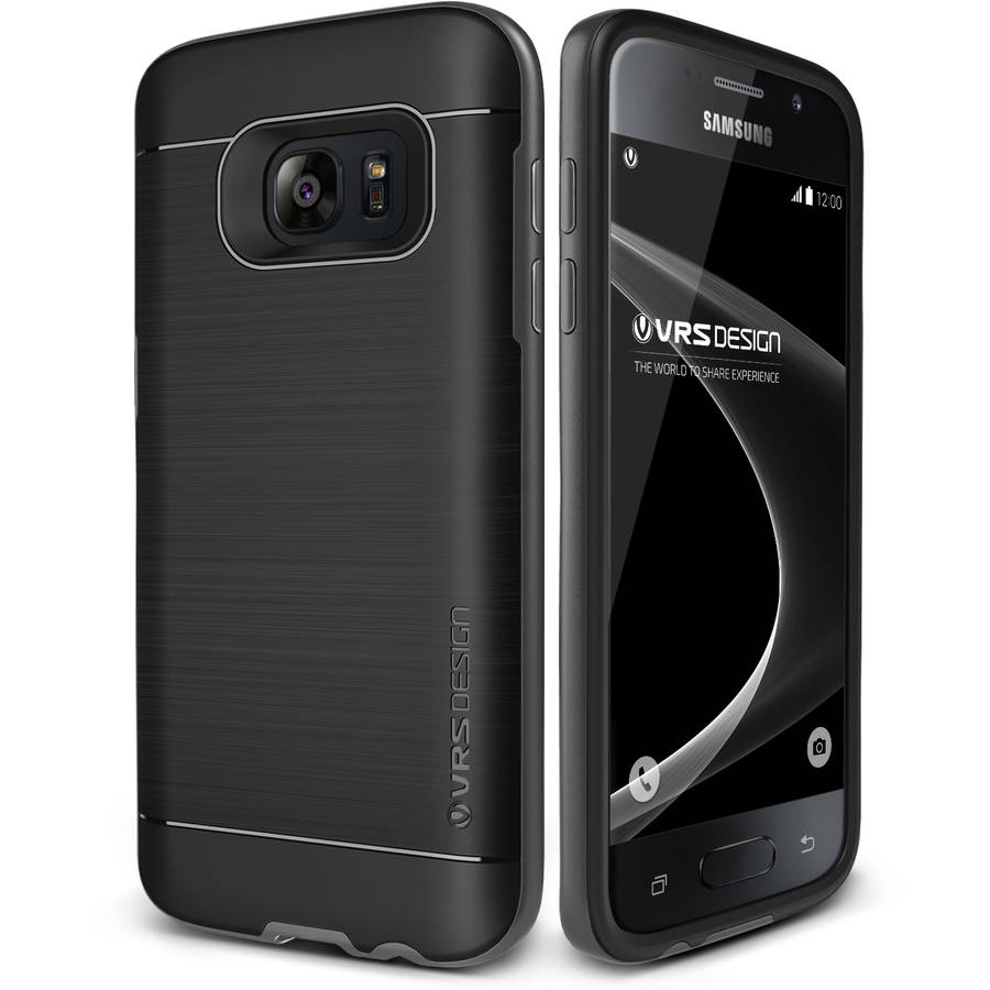 Galaxy S7 Case Soft Cover Case by VRS Design High Pro Shield Series, Steel Silver