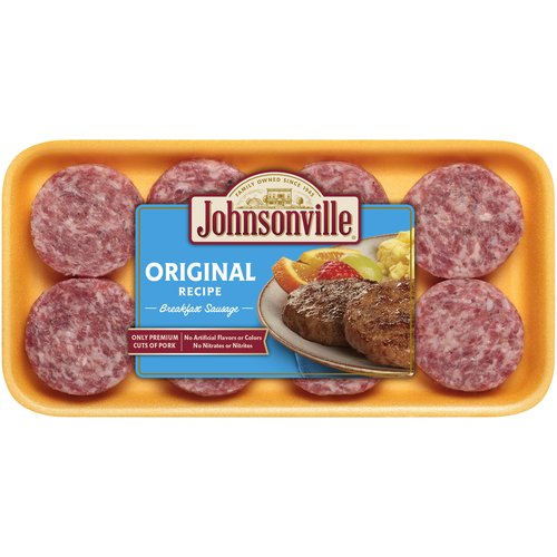 Johnsonville Original Recipe Breakfast Sausage, 8 count, 12 oz