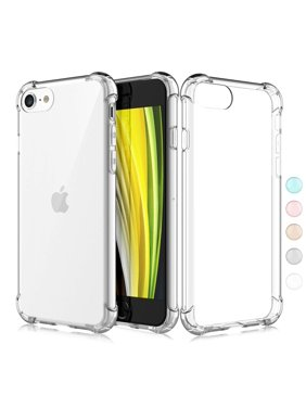 iPhone 8 Plus Case,iPhone 8 Plus Clear Case, Njjex Crystal Transparent Clear Flexible Shock Absorption Bumper Soft Gel TPU Cover For iPhone 7/8 Plus 5.5 Inch -Clear