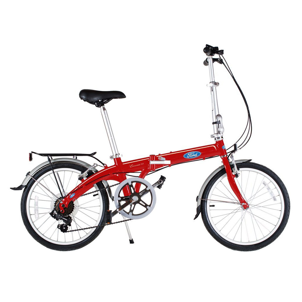 "Ford By Dahon 7-Speed Convertible 2.0 Aluminum 20"" Folding Bicycle"