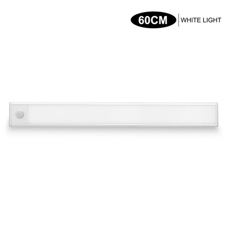 LED Cabinet Lights Motion Sensor Lights USB Rechargeable Cabinet Lighting Removable Magnetic Stick-On Night Lights for Closet Wardrobe Drawer Cupboard Pure White Light