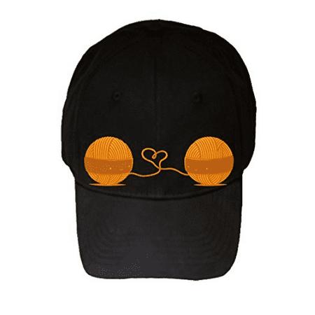 100% Black Cotton Adjustable Hat -