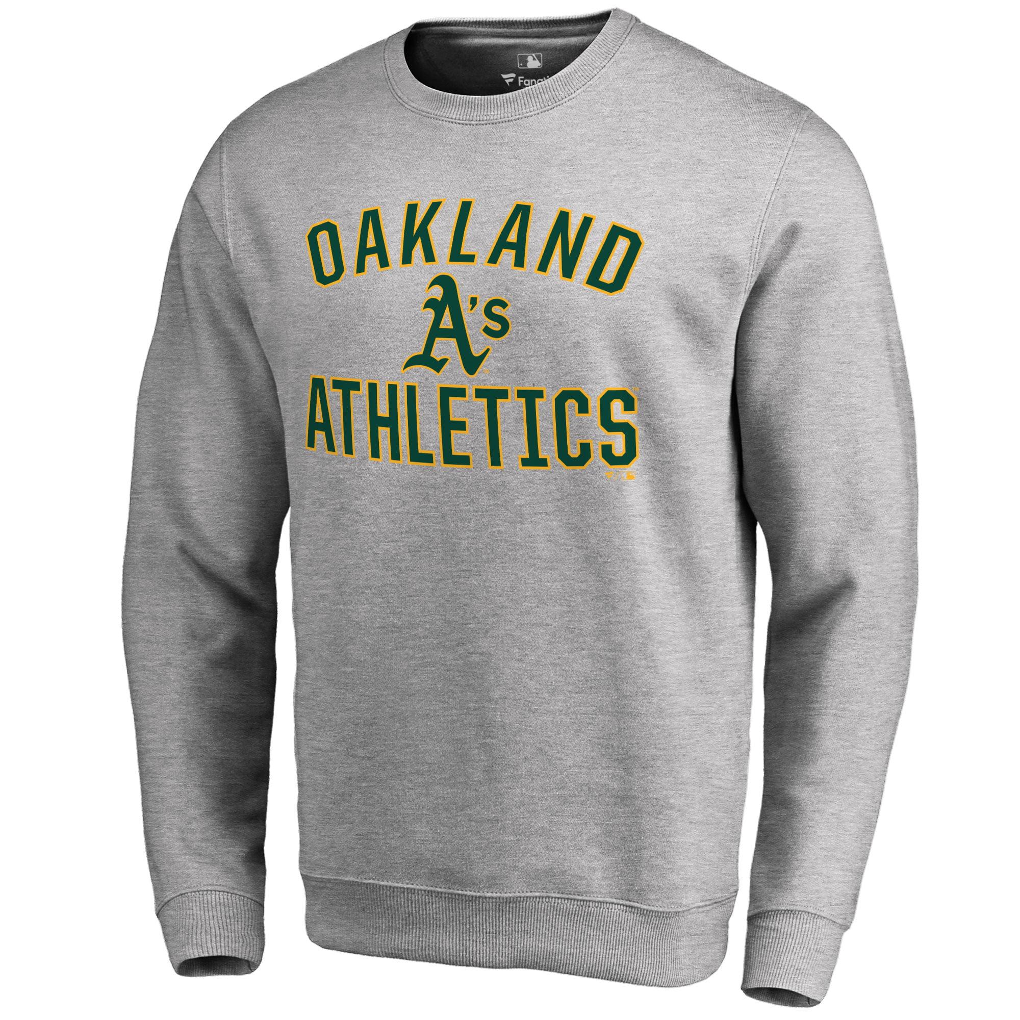 Oakland Athletics Victory Arch Pullover Sweatshirt - Ash