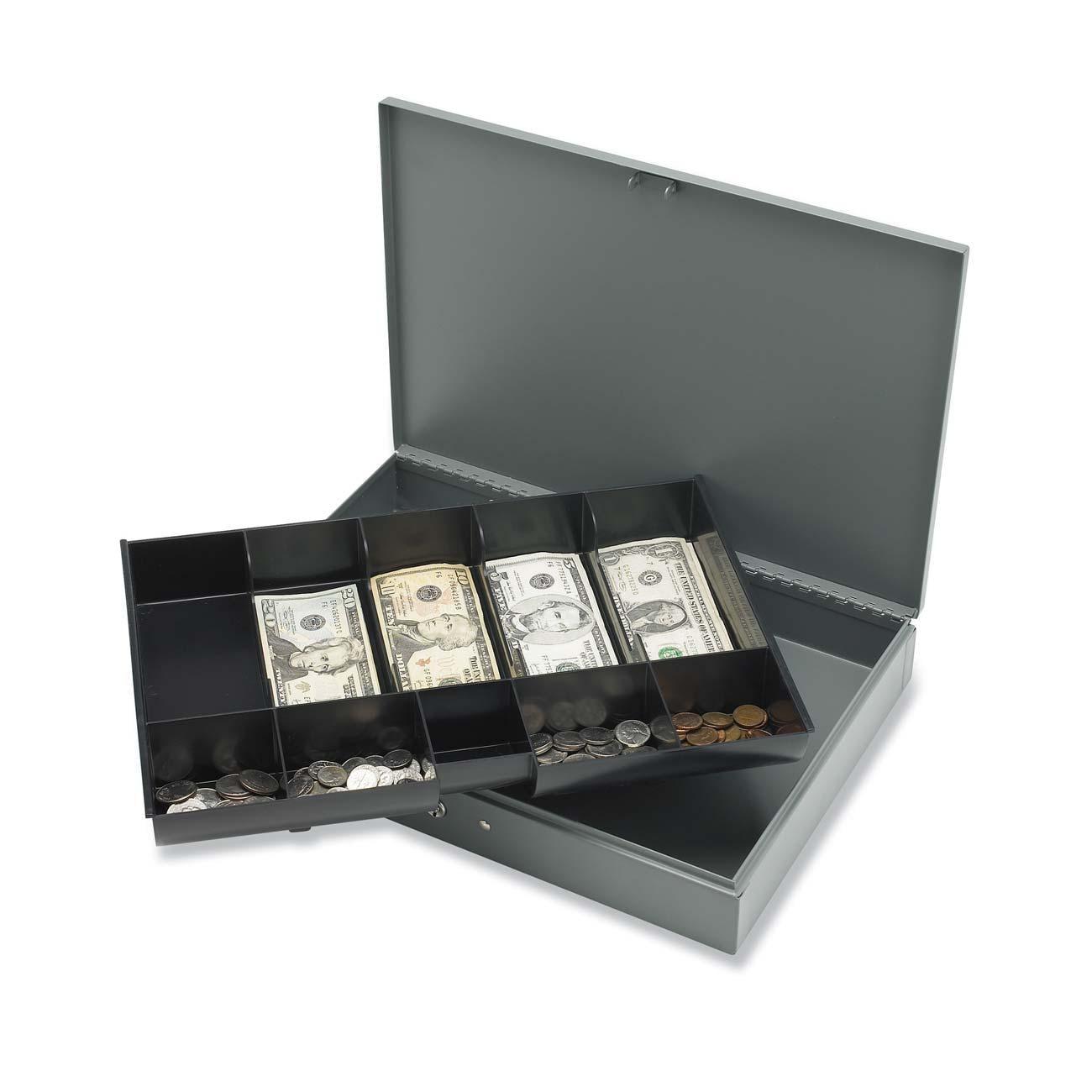 Sparco Steel Locking Cash Box w/ Tray