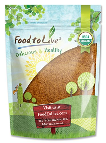 Food to Live Certified Organic Cocoa Powder (Natural, Non-Dutched, Non-GMO, Unsweetened,... by