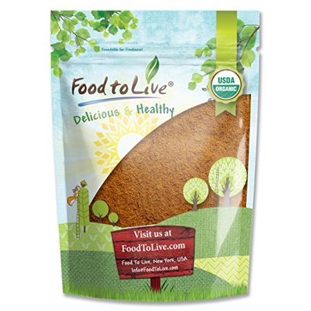 Fair Trade Sweet - Food to Live Certified Organic Cocoa Powder (Natural, Non-Dutched, Non-GMO, Unsweetened, Fair Trade, Bulk) (1 Pound)