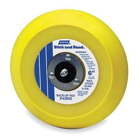 NORTON 63642506135 Hook-and-Loop Disc Backup Pad,5D
