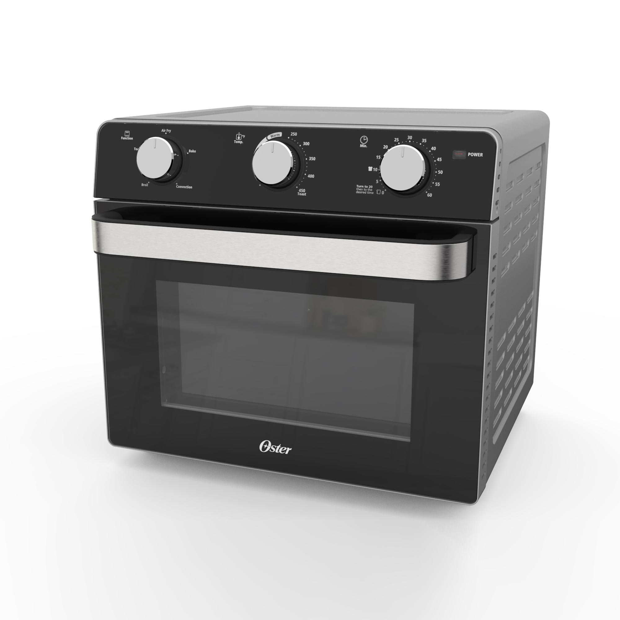 oster countertop toaster oven with air fryer black model