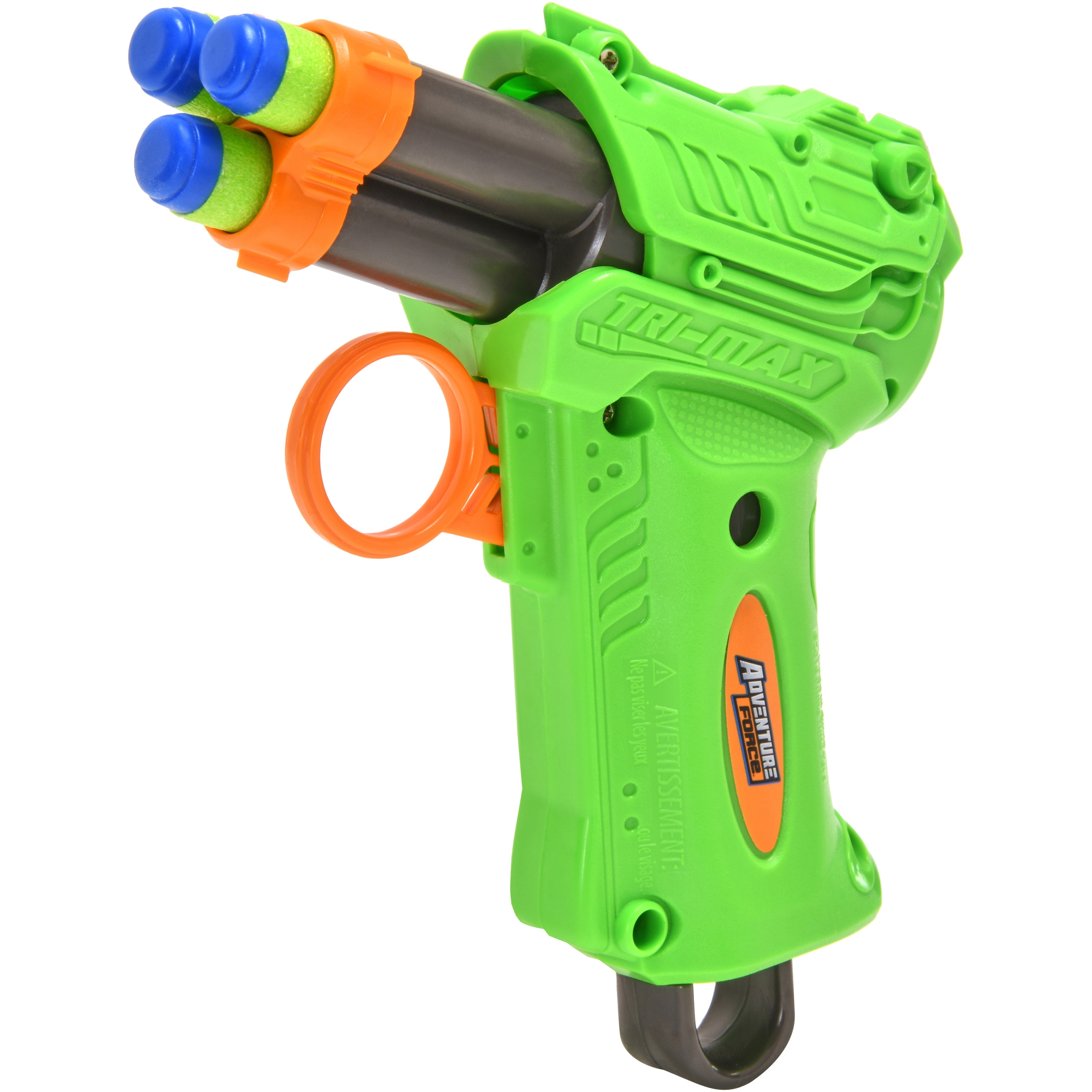Adventure Force Tri-Max Auto-Advance Rotating Barrel Blaster, Green