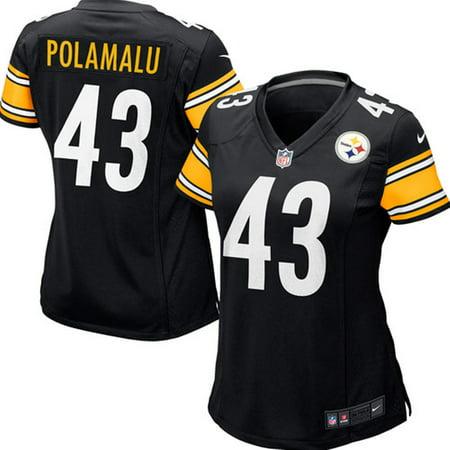 8f72c3411 Women s Pittsburgh Steelers Troy Polamalu Nike Black Game Jersey -  Walmart.com