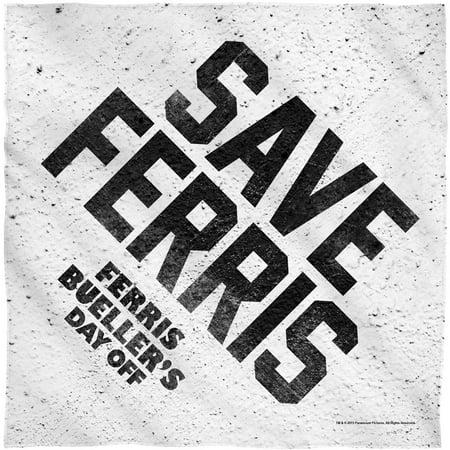 Ferris Bueller's Day Off Save Ferris Bandana White](Diy Bandana)