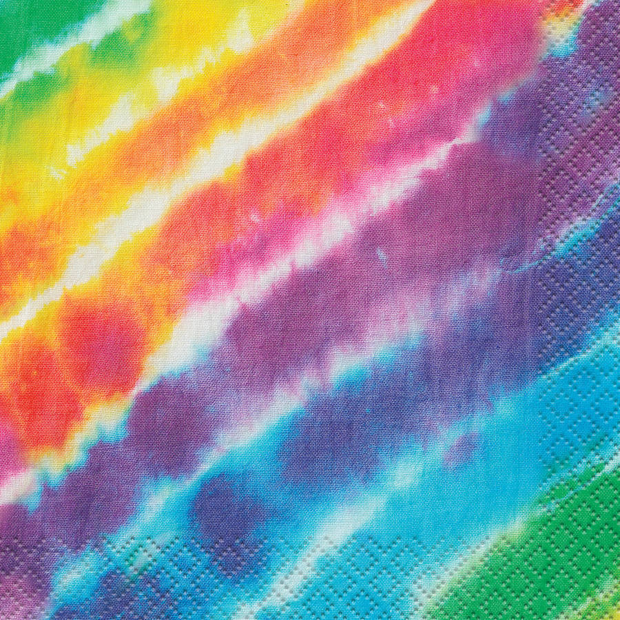 Rainbow Tie Dye Beverage Napkins, 16ct