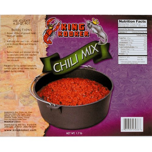 King Kooker Party Size Chili Mix