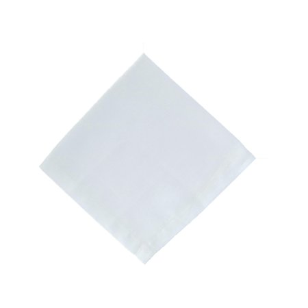 Linen Hankie (Size one size Men's Premium Irish Linen Handkerchief, White)