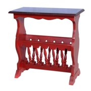 Crafted Home Calhoun Red Rectangle Side Table