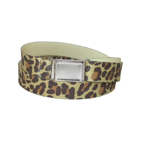 Size one size Women's Plus Size Elastic Leopard Print Belt with Magnetic Buckle](Childrens Leopard Print Onesie)