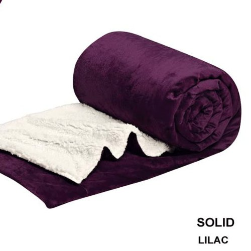 Queen Blanket Sumptuously Soft Plush Purple lilac Sherpa Blankets   Reversible Winter... by