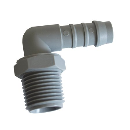 Tefen Fitting 1 2 ID x 3 8 NPT Male Threaded Elbow Hose Connector 10