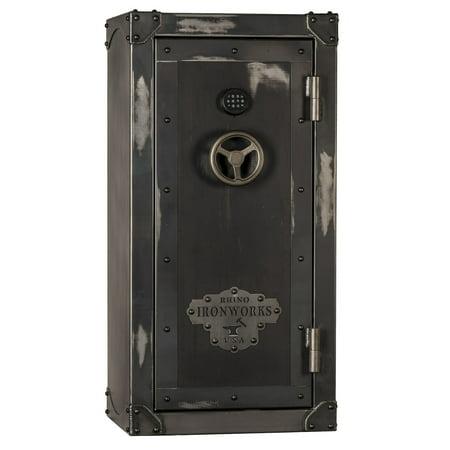 Rhino Ironworks CIWD6030 E-lock 28 Gun Safe-75 Min Fire Safe