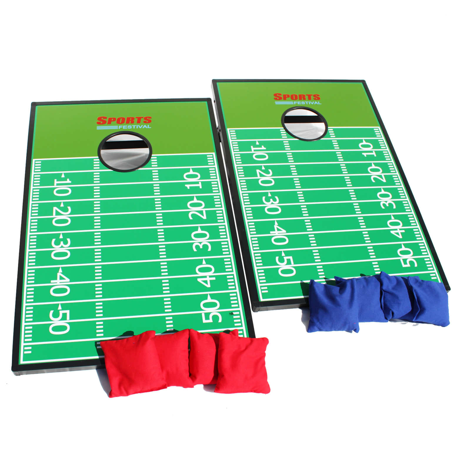 Cornhole Beanbag Toss Game Great for Outside Yard Kids Games Tic Tac Toe and Cornhole Party Games Football Field by Zhejiang Phelps Lighting Technololgy Co., Ltd.