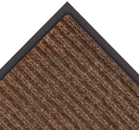NOTRAX 109S0048BR Carpeted Entrance Mat, Brown, 4 x 8 ft.