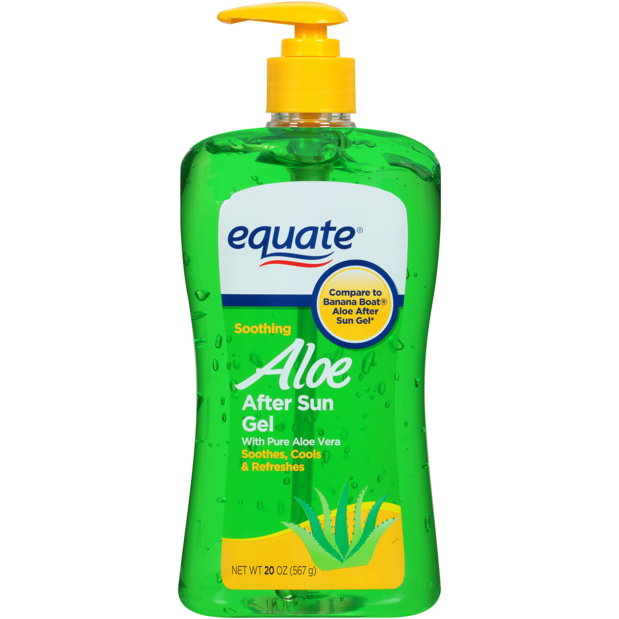 Equate Soothing Aloe After Sun Gel, 20 Fl Oz