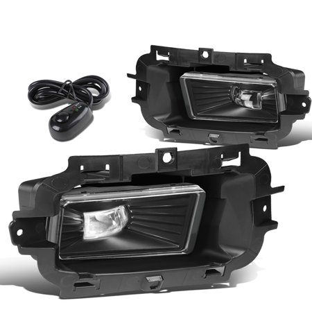 For 2014 to 2015 Chevy Silverado 1500 Pair Front Bumper LED Fog Light / Lamp+Switch Clear