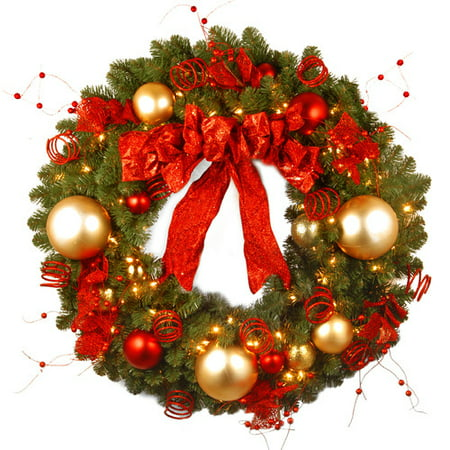 Prelit Christmas Wreath.National Tree Co Pre Lit Cozy Christmas Wreath