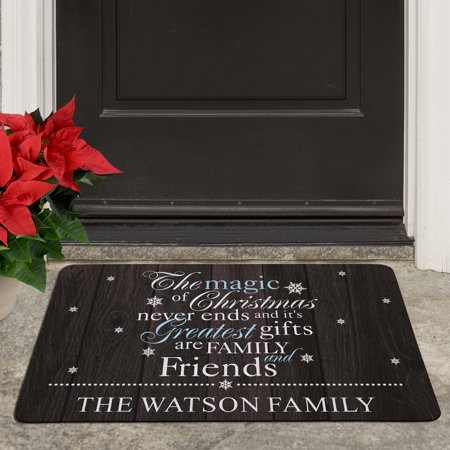 Personalized The Magic of Christmas Doormat - Door Covers For Christmas