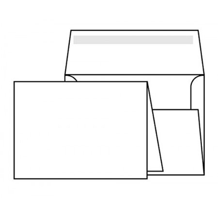 80lb White Half Fold Greeting Cards With Envelopes, Cards Size 5.5 X 8.5 Inches When Folded - Envelope Is Size 6 x 9 Booklet - 50 Cards and Envelopes Per (Envelope Sizes Envelopes)