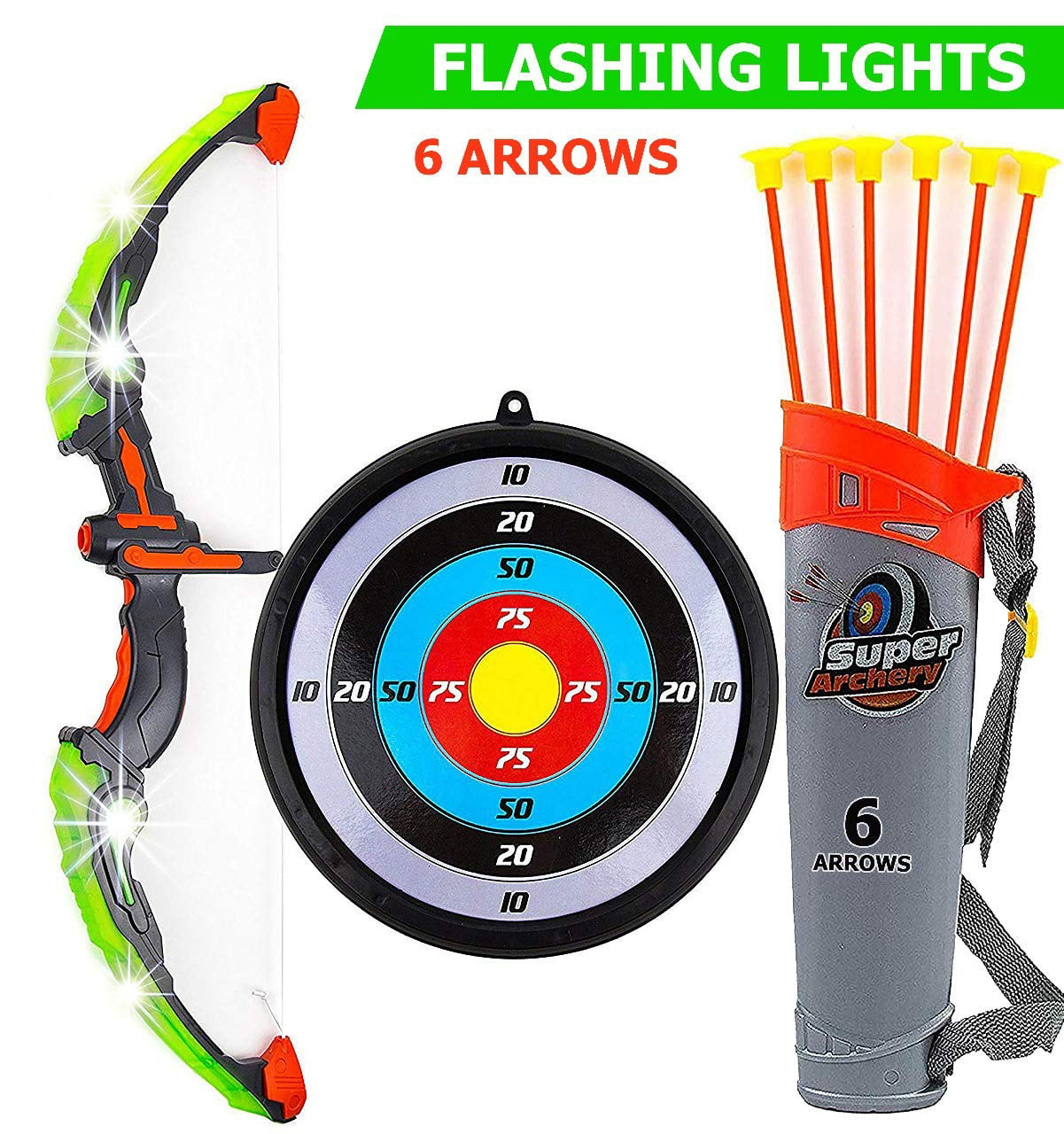 Children Bow and Arrow Set Archery Youth Bow and Arrow Set Kids Toy Bow Archery Set with Arrow Target Gift Set for Children Junior Archery Shooting Games