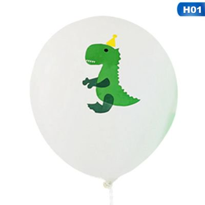 Jungle Themed Balloon Decorations (KABOER Dinosaur Party Balloons, 10pcs 12 Inch  Latex Balloons with Ribbon for Dinosaur Party Supplies,  Dino Jungle Jurassic Birthday Party)