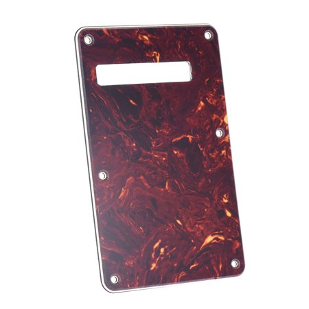 Tortoise Red Guitar Pick Guard Back Plate with 20pcs Screws for Stratocaster Strat Style Electric Guitar - image 3 of 7