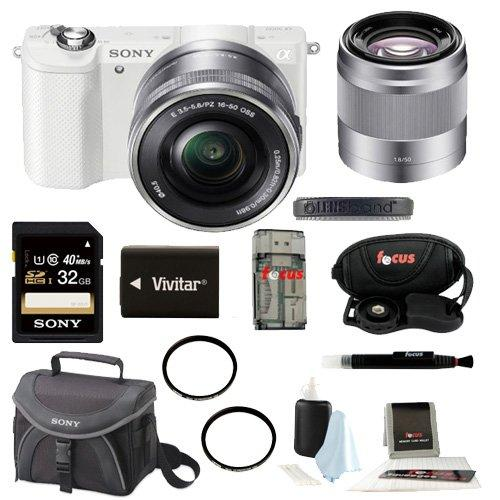 Sony a5000 w  50mm F1.8 Lens and 32GB Deluxe Accessory Kit by Sony