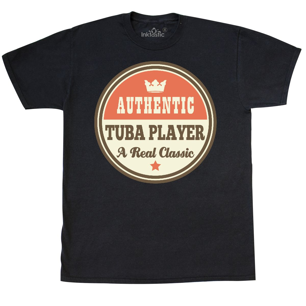 Inktastic Tuba Player Vintage Classic T-Shirt Gift Retired Retirement Authentic