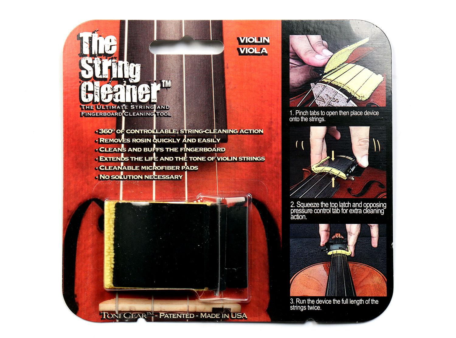 Tonegear String Cleaner for Violin or Viola by Tonegear