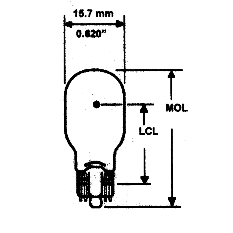 Camco Mfg (Electrical) 54763 Bulb #906 (2)