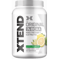 Xtend Original BCAA Powder, Branched Chain Amino Acids, Sugar Free Post Workout Muscle Recovery Drink with Amino Acids, 7g BCAAs for Men & Women, Lemon-Lime Squeeze, 90 Servings