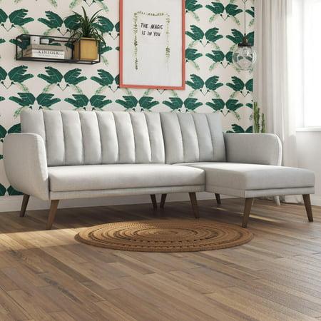Novogratz Brittany Sectional Futon Sofa, Multiple Colors ()