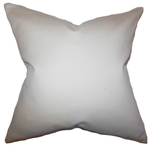 The Pillow Collection Mabel Solid Cotton Throw Pillow Cover