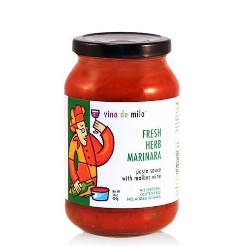 Vino de Milo No Sugar Added Pasta Sauce (16 oz) - Fresh Herb Marinara