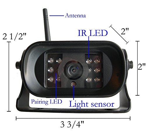 "4Ucam TWO Digital Wireless Camera + 7"" Monitor Quad-view ..."