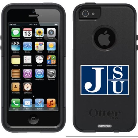 Spartan Plasma Pistol - Jackson State JSU in Navy Design on OtterBox Commuter Series Case for Apple iPhone 5SE/5s/5