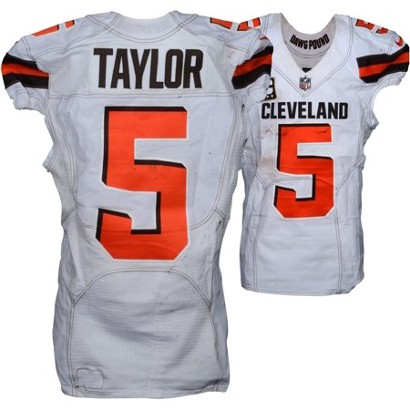 Tyrod Taylor Cleveland Browns Game Used 5 White Jersey Vs New Orleans Saints On September 16 2018 Fanatics Authentic Certified Walmart Com