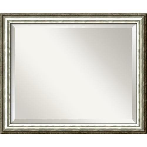 Amanti Art SoHo Silver Wall Mirror