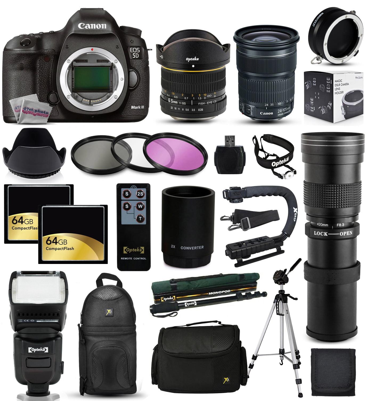 Canon EOS 5D Mark 3 DSLR SLR Digital Camera with 18-55mm ...
