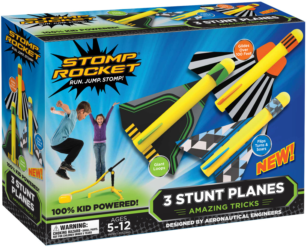Stomp Rocket Stunt Planes, 3 Planes by D&L Company